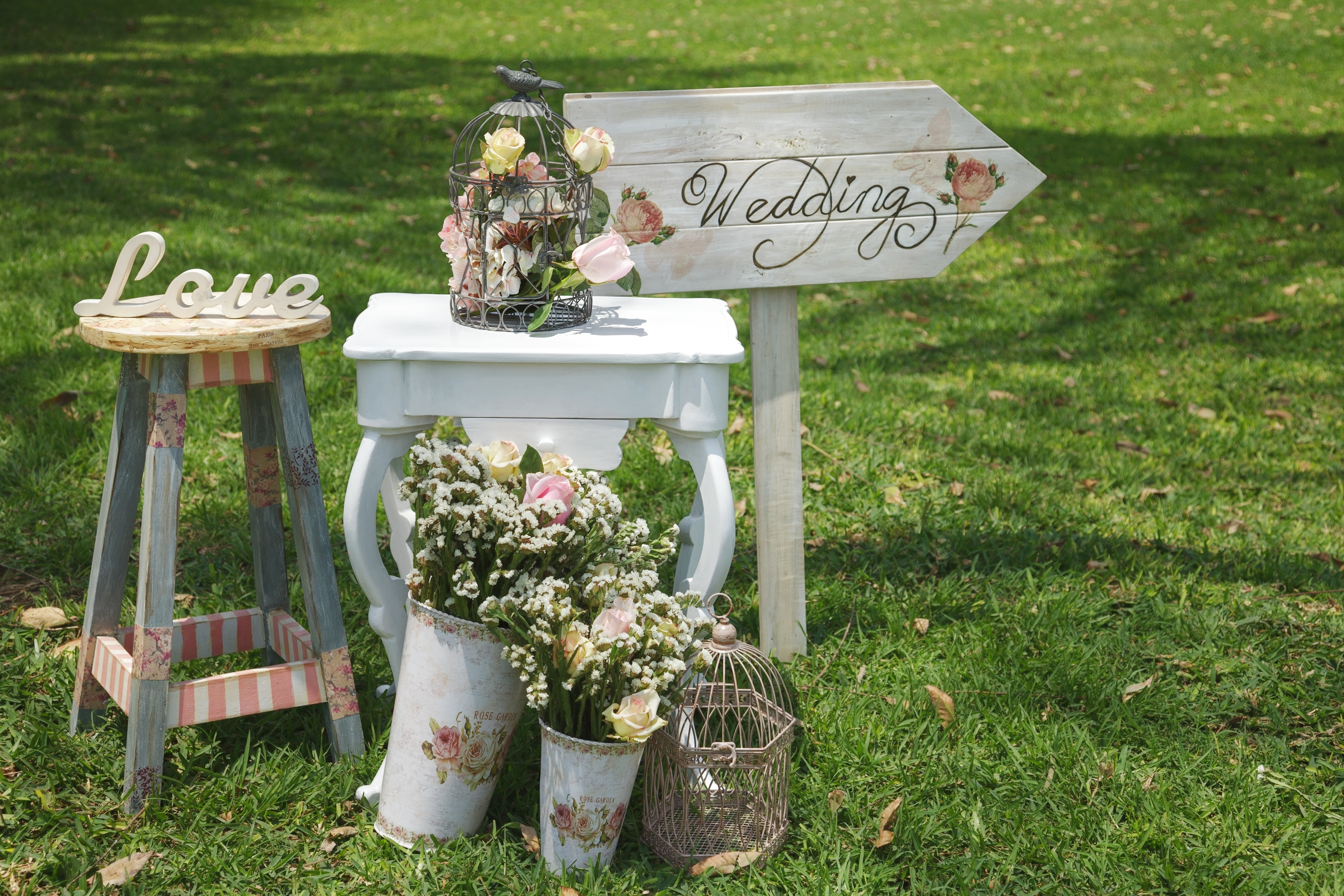 Wood Hand Made Welcome Wedding Decoration